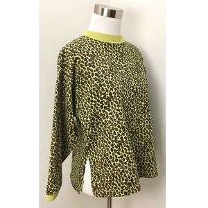 Vintage 90s Punk Cheetah Print Sweatshirt